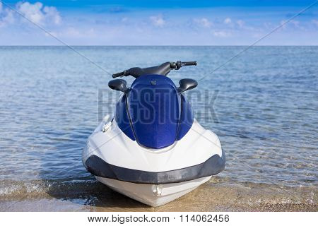 Motor Bike Near Coastline