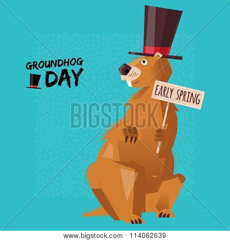 Groundhog Day. Early Spring.