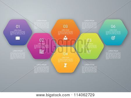 Vector circle hexagon infographic