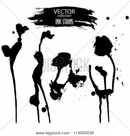 Vector Collection Of Various Ink Smudges And Grunge Banner