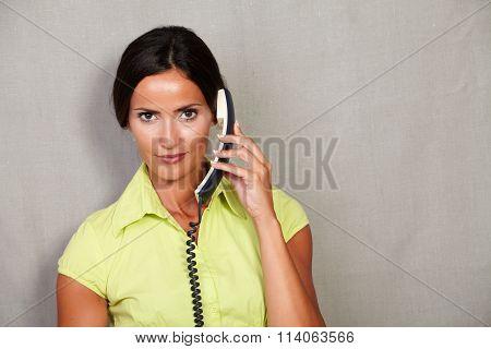 Caucasian Ethnicity Adult Lady Holding Phone