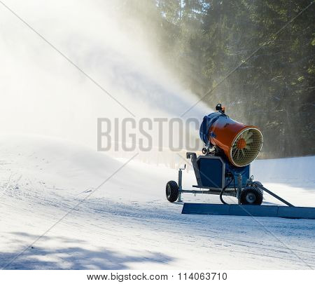 Snow Cannon In Action