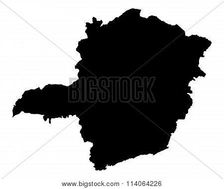 Map Of Minas Gerais