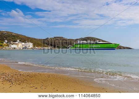 Fast Ferry In The Sea Port