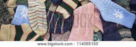 knitted socks background