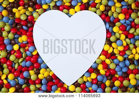 Heart shape inside smarties