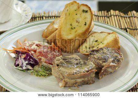 Beef Steak Wrapped In Bacon