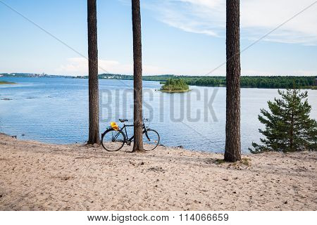 Summer View Over Lule River in Northern Sweden