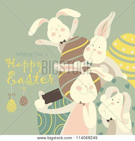 Easter bunnies take a selfie