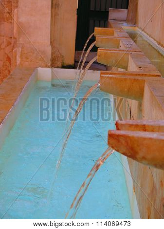 Small Fountain In Malaga Back Street