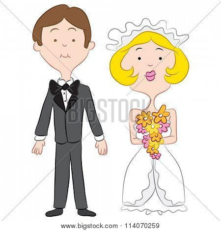 An image of a bride and groom.