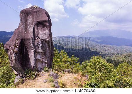 Pha Tag, Stone With Mountain In Doi Inthanon, Chiangmai Thailand