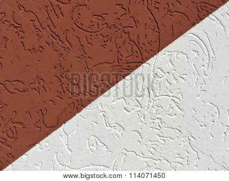 Brown And White Plaster Wall Texture.