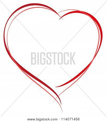Heart shape symbol of love. Heart for greeting card Valentines Day