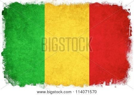 Mali Grunge Flag Illustration Of African Country
