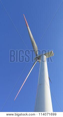Windfarm On Mountain