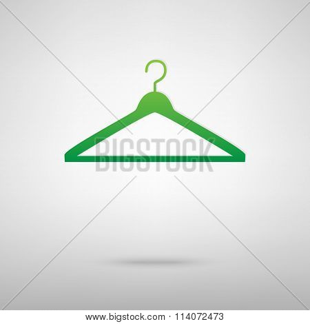 Hanger. Green icon