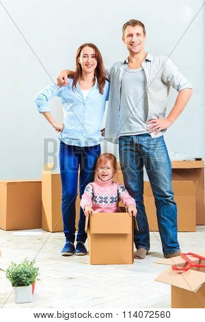 The happy family  during repair and relocation