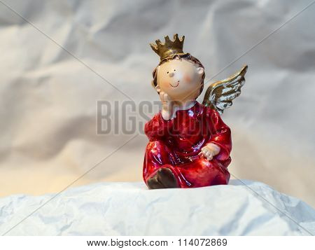 Love Angel with Crown and Wings