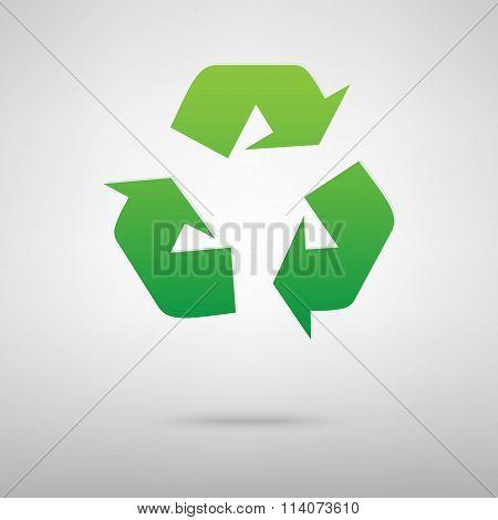 Recycle logo concept.