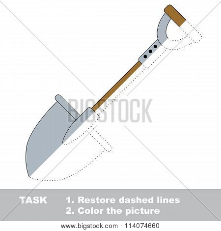 Spade to be colored. Vector trace game.