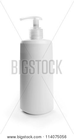 Blank Cosmetic Container Isolated On White Background