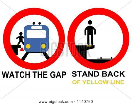 Train Warning Signs Danger