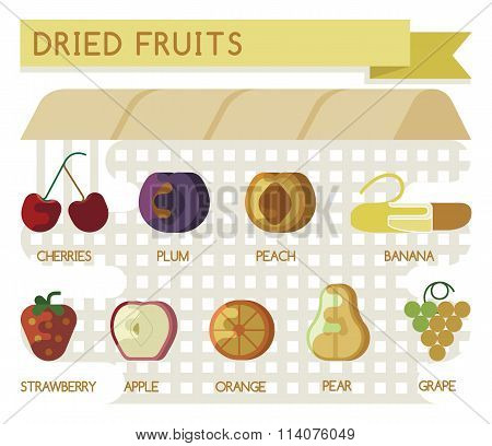 Dried fruits concept