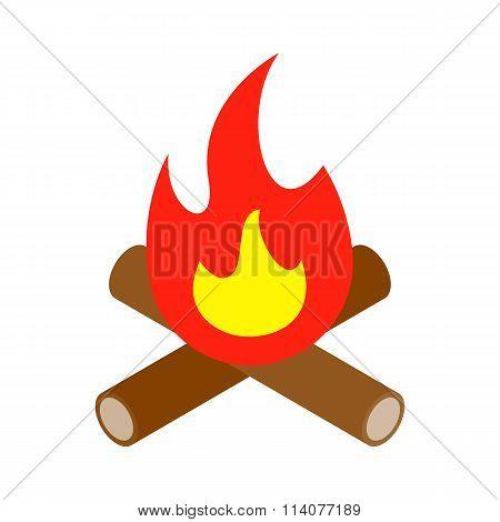 Bonfire isometric 3d icon