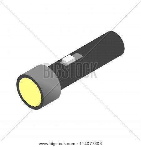 Flashlight isometric 3d icon