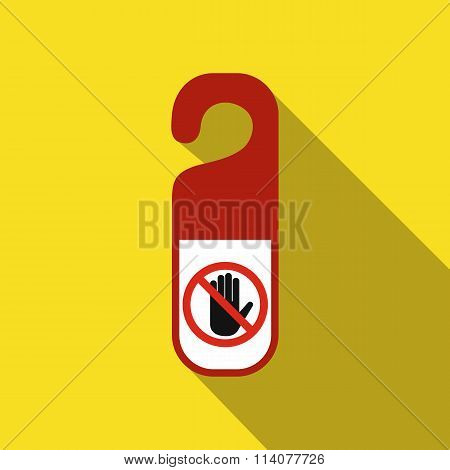 Do not disturb door hangers flat icon
