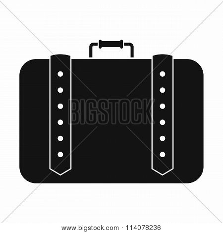 Suitcase for travalling black simple icon