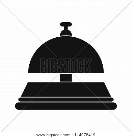 Reception bell black simple icon