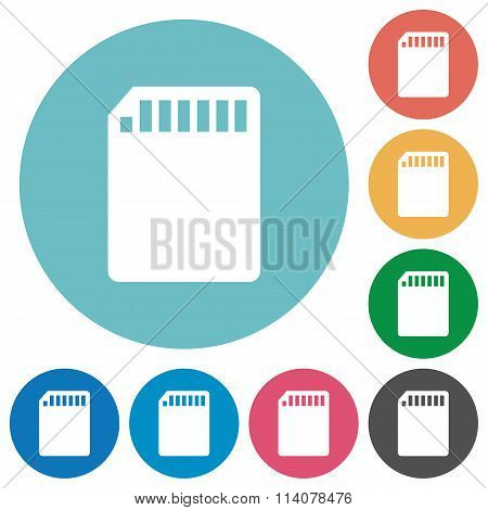Flat Sd Card Icons