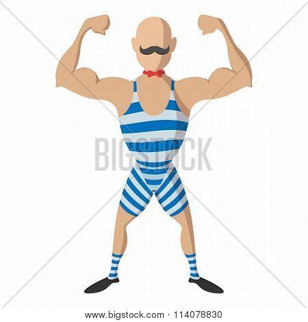 Strong man cartoon