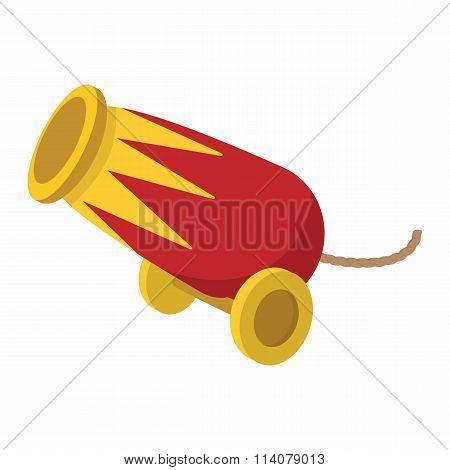 Circus cannon cartoon