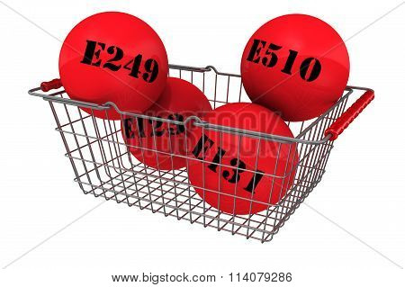 Harmful food additives in the shopping basket
