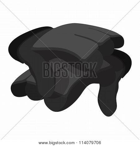 2 paintball gloves cartoon icon