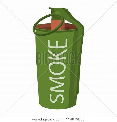 Hand grenade smoke bomb icon