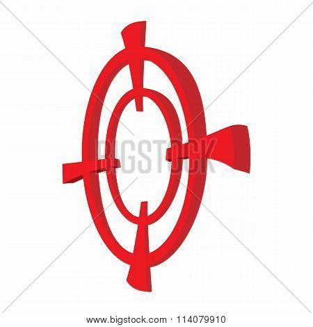Target paintball cartoon icon