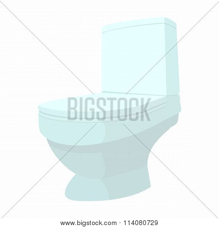 Toilet cartoon icon