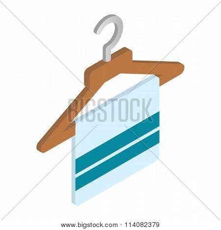Scarf on coat-hanger isometric 3d icon