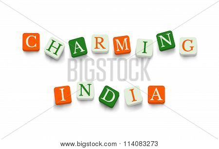 Charming India with colorful blocks