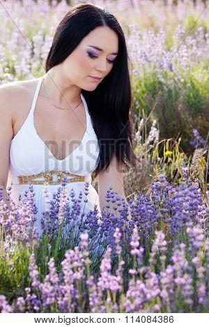 Portrait in lavender