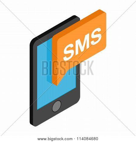 Smartphone smsisometric 3d icon