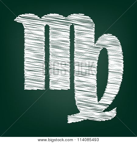 Icon with chalk effect