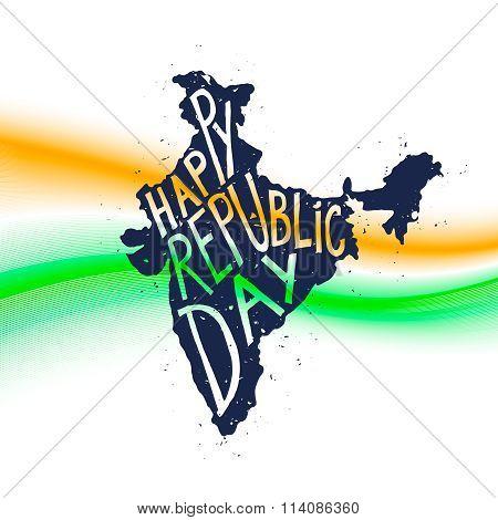 Happy republic Day Typographic poster