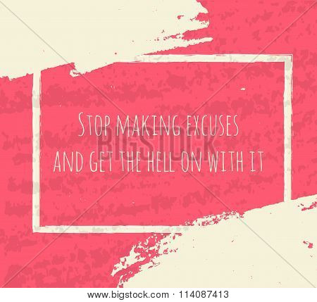 Creative Typographic Poster Hand Drawing In The Form Of Quotes And Phrases To Raise Morale And Good