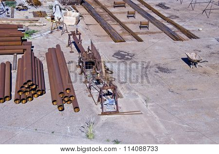 Iron Pipes And Other Industrial Metal Equipment