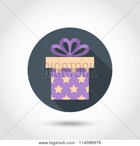 Flat Gift box colorful icon
